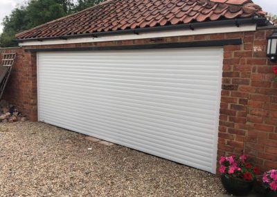 77mm White Insulated Roller Door