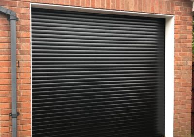 55mm Black Insulated Roller Door