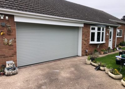 Light Grey 77mm Insulated Roller Door