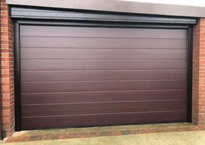 Rosewood Alutech 40mm M-Ribbed Sectional Door