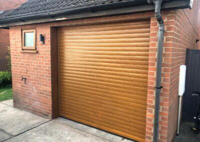 Golden Oak 77mm Electric Insulated Roller Door